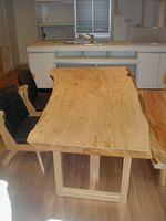 nolink,栃(トチ)の一枚板テーブル